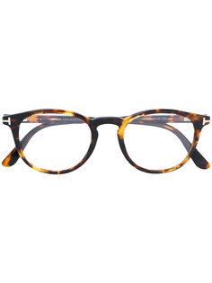 очки в округлой оправе Tom Ford Eyewear
