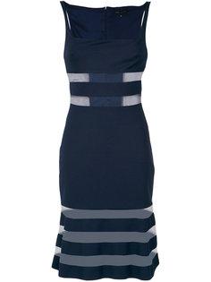 sheer panels striped dress Gloria Coelho