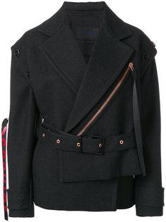 Belted Asymmetrical Logo Pull Coat Proenza Schouler