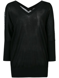 Batwing Sweater with Printed Back Derek Lam