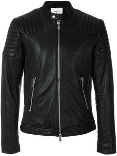 байкерская куртка из кожи ягненка Dondup