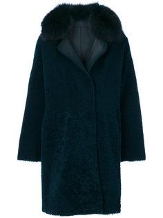 пальто с меховой оторочкой  Guy Laroche Vintage