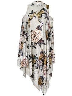 платье-шифт с цветочным узором Mm6 Maison Margiela