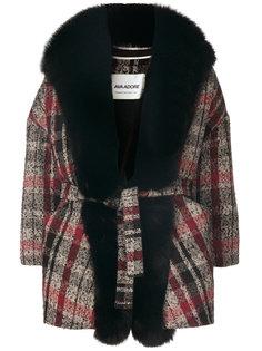 пальто с принтом тартан  Ava Adore