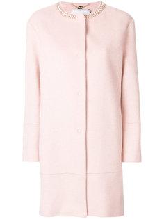 пальто миди с отделкой на горловине  Blugirl