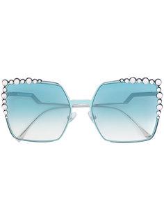декорированные солнцезащитные очки Fendi Eyewear
