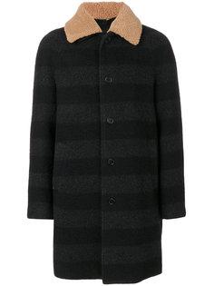 пальто с контрастным воротником MSGM