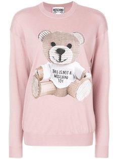 свитер с изображением плюшевого медведя Moschino