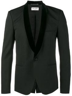 пиджак с бархатными лацканами-шалькой Saint Laurent