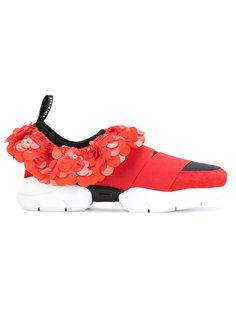 кроссовки с пайетками Emilio Pucci