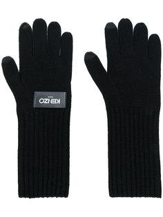 перчатки с логотипом Kenzo