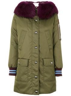 пальто-парка с трикотажными манжетами  Miu Miu