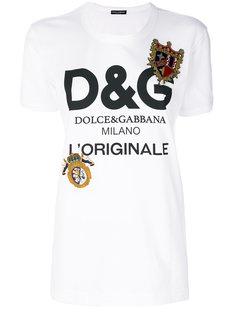 футболка с принтом логотипа Dolce & Gabbana