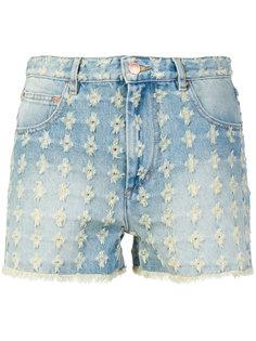 джинсовые шорты с завышенной талией  Isabel Marant Étoile