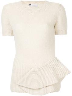 вязаная юбка с драпировкой Lanvin