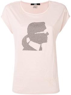 футболка с декорированным принтом Karl Karl Lagerfeld