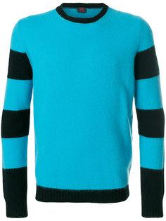 свитер с полосатыми рукавами Mp  Massimo Piombo