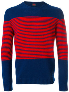 свитер с полосатым узором Mp  Massimo Piombo