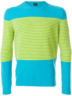 свитер с полосатым принтом Mp  Massimo Piombo