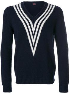 свитер с полосатой горловиной Mp  Massimo Piombo