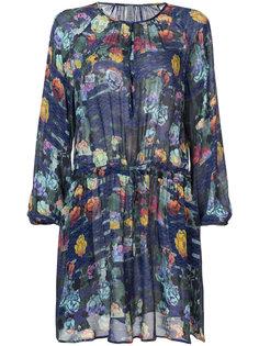 printed drawstring dress  Raquel Allegra