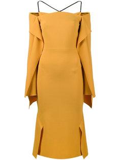 платье Andover с открытыми плечами и драпировками Roland Mouret