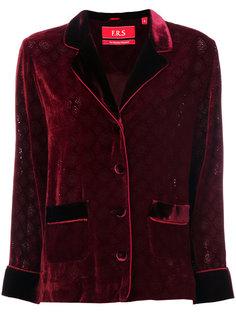бархатный пиджак с тисненым узором F.R.S For Restless Sleepers