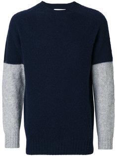 свитер с контрастными рукавами YMC