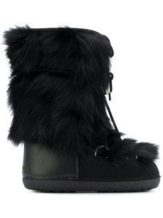 зимние ботинки с лисьим мехом Dsquared2