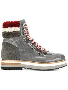 ботинки с отделкой искусственной овчиной Fabi