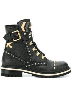 ботинки с отделкой заклепками  Fabi