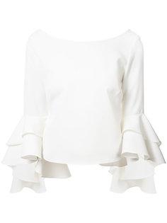 блузка с расклешенными рукавами Milly