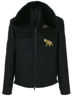куртка с отделкой мехом енота Fendi
