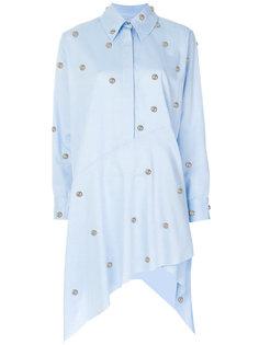 асимметричное платье-рубашка с заклепками  Marquesalmeida