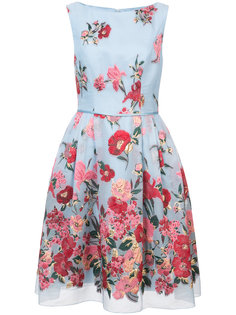 коктейльное платье с цветочным принтом  Carolina Herrera