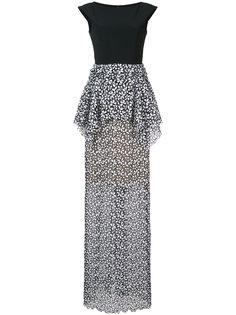вечернее платье с кружевным слоем Carolina Herrera