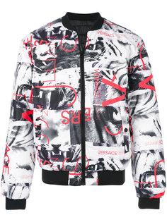 куртка-бомбер с рисунком Versace Jeans