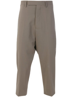 брюки с заниженной проймой Rick Owens
