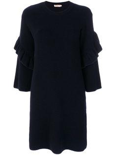 платье с рюшами на рукавах Ashley Tory Burch