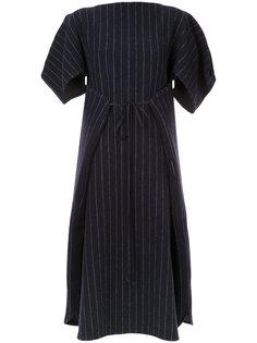 полосатое платье с присборенной талией Nehera