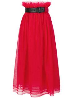 юбка с высокой талией с ремнем Comme Des Garçons Noir Kei Ninomiya