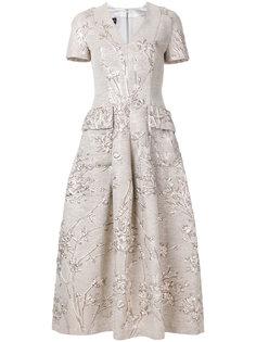 жаккардовое платье с карманами  Talbot Runhof
