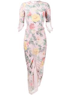приталенное платье с цветочным принтом Agnes Preen By Thornton Bregazzi