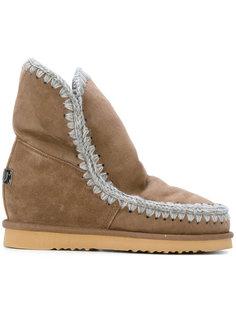 ботинки с простроченной окантовкой Mou