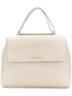 сумка-тоут с бляшкой-логотипом Orciani