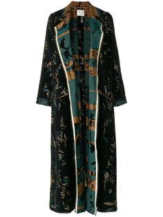 длинное пальто с цветочным принтом  Forte Forte