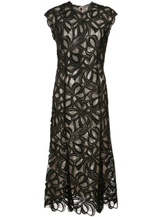 кружевное гипюровое платье  Monique Lhuillier