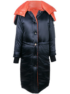 дутое пальто кроя оверсайз Versace