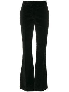 расклешенные бархатные брюки Prada