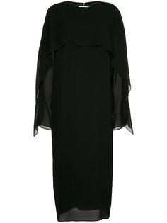 двухслойное платье длины миди Jil Sander